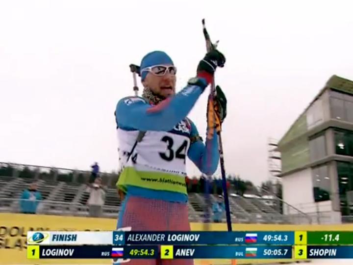 Житель россии Логинов одержал победу персональную гонку наЧЕ побиатлону