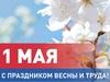 Ректор СГУ поздравляет с Праздником<br> весны и труда
